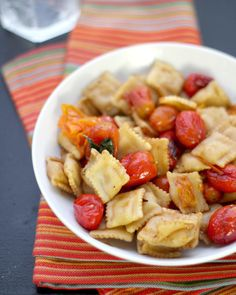 Tomato Ravioli-looks great for summer with all the nice cherry tomatoes in season