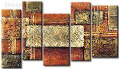Espejo - cuadro sobre lienzo, cuadros abstractos modernos - Bimago