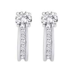 #amazon 10K White Gold 1/4 ct. Diamond Earring Jackets - $229 (save 75%) #katarina #jewelry #women