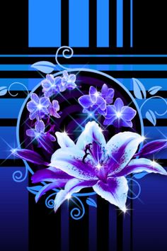Flowers of Neon Blue