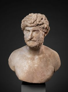 Marble bust of a bearded man | 150 - 175 A.D | Roman | Metropolitan Museum of Art, New York | A bust representing a vigorous middle-aged man, who is assumed that the sitter was a contemporary man in the guise of a thinker.