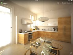This kitchen would work really well in my granny flat design.