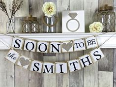 Engagement Banner Soon to Be Banner by WeddingBannerLove on Etsy