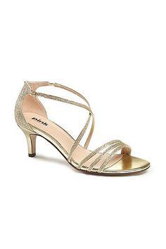 Gold strappy t-bar 'Trinity' sandal
