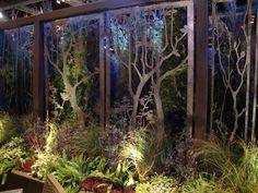 laser cut metal panels at the Northwest Flower & Garden Show 2012 Laser Cut Screens, Laser Cut Panels, Laser Cut Metal, Garden Show, Dream Garden, Garden Art, Garden Design, Metal Gates, Metal Screen