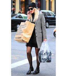 @Alexandra M What Wear - Rita Ora                 Sheer tights lend a flirtatious element to Ora's otherwise edgy look.