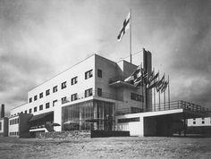 Hotelli Pohjanhovi, Rovaniemi, arkkitehdit Pauli ja Märta Blomstedt. Valokuva: Heinrich Iffland 1936 / MFA.