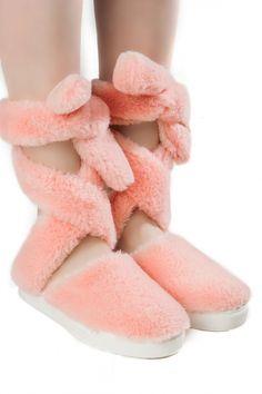 Anouki Furlana faux fur lace-up flats