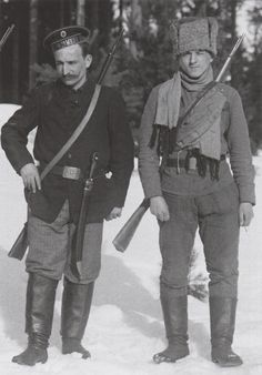 Russian volunteers serving in the Finnish Red Guard during the Finnish Civil War, 1918.