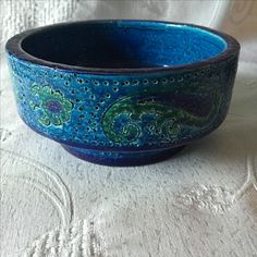 Bitossi Liberty bowl. Aldo Londi. Mid century Italian pottery.
