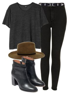 """""""Untitled #4387"""" by laurenmboot ❤ liked on Polyvore featuring Topshop, Monki, ASOS and Madewell"""