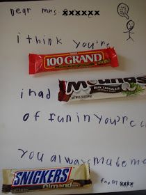 Room Mom 101: Thank You Ideas Using Candy
