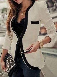 Casual blazer outfit for women (42)
