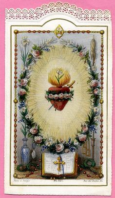 Religious Images, Religious Art, Christian Paintings, Vintage Holy Cards, Our Lady Of Sorrows, Christian Pictures, Gorgeous Tattoos, Holy Mary, Blessed Virgin Mary