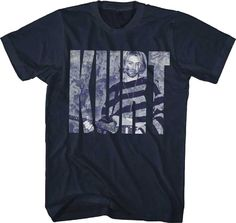 Rockabilia Nirvana Kurt Cobain Photo Logo T-shirt