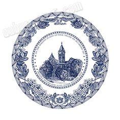 Auburn University Samford Hall Dinner Ware China Plate - Terrific Wedding or Graduation Gift! Auburn Football, Auburn Tigers, College Gifts, Auburn University, China Plates, Love Blue, Graduation Gifts, Eagle, Tiny Cake