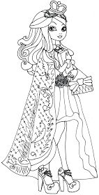 Free printable ever after high Apple White legacy day coloring page.