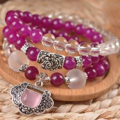 When I wear the bracelet I like, I feel very happy~~Find More   Information about China supply new jewelry  purple red agate+white crystal +lock crystal bracelet ,High Quality  ,China   Suppliers, Cheap   from Happy Sunshine Jewelry on Aliexpress.com