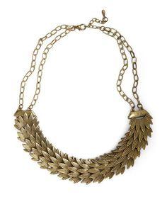 Golden Plumage Necklace