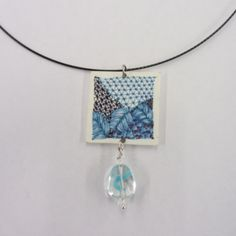 zentangle shrinky dink necklace by Jann of Zen Doodle Club