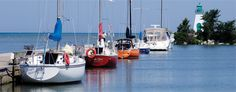 Boats docked at Port Dalhousie Harbour in St. Niagara Region, St Catharines, Visit Canada, Boat Dock, Sailboats, Niagara Falls, Great Places, Ontario, Nostalgia