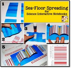 Sea Floor Spreading For Science Interactive Notebooks   Earth Science U0026  Plate Tectonics
