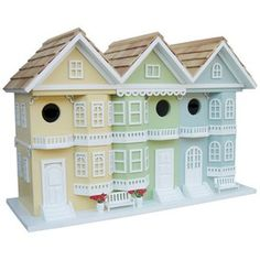 San Francisco Row Birdhouse - fabulous!
