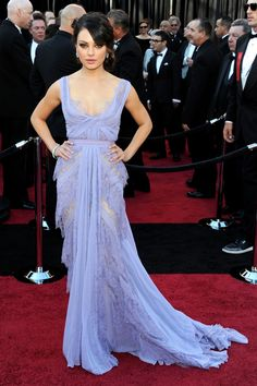 50 Amazing Oscar Looks We're Still Obsessed With #refinery29  http://www.refinery29.com/2015/02/82170/best-oscar-red-carpet-photos#slide-11  Mila Kunis, 2011  Fact: We still fantasize about this lilac-hued Elie Saab gown.