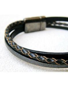 Ανδρικό Βραχιόλι Black Mixed Leathers Bracelets, Black, Jewelry, Jewlery, Black People, Jewerly, Schmuck, Jewels, Jewelery