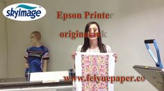 How to Use Sublimation Epson F-series Printer & Original Ink to Print & ...