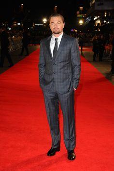 "Leonardo DiCaprio wears Giorgio Armani Suit at ""The Wolf Of Wall Street"" London Premiere   UpscaleHype"