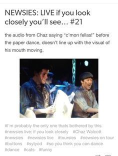 NEWSIES: LIVE  if you look closely you'll see #21 Credits: nobody-told-the-Horse //tumblr