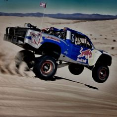 Watching some trophy trucks in Glamis