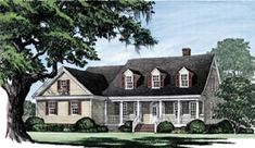 Elevation of Cape Cod   Country   Southern   Traditional   House Plan 86104