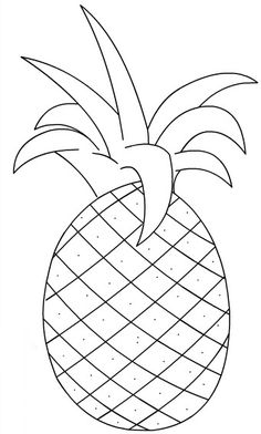 Fruit Coloring Pages, Easy Coloring Pages, Animal Coloring Pages, Coloring Sheets, Coloring Books, Art Drawings For Kids, Drawing For Kids, Easy Drawings, Animal Drawings