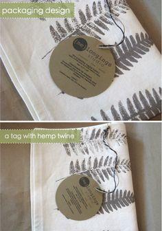 tag with hemp twine