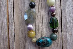 Chunky+Necklace+Bold+Jewelry+Gemstone+Necklace+by+sageandolivia,+$56.00