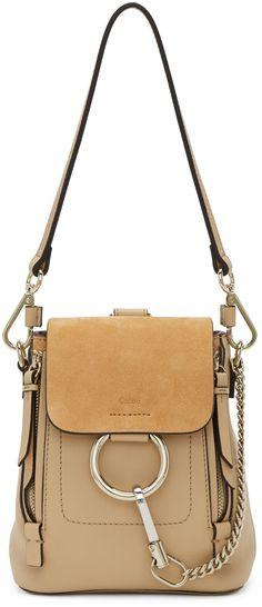 Chloé - Beige Mini Faye Backpack