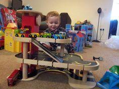 wooden toy car garage