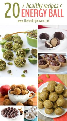 20 Healthy Energy Ball Recipes with gluten-free, vegan, and paleo options . These will keep you energized all day long!