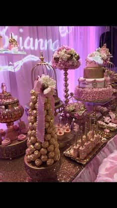 Image result for blush and gold quinceanera decorations