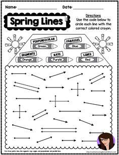 4th Grade NO PREP Spring Math Printables