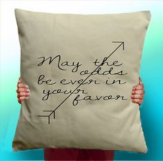 Hunger Games may the odds be ever in you favor - Cushion / Pillow Cover / Panel / Fabric on Etsy, £5.00