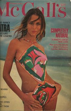 Cover of McCall's Magazine, July 1968. Bathing suit by Pucci.