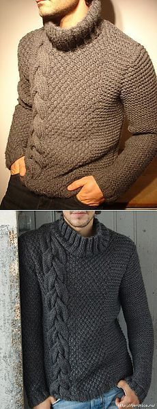 knitting pullover for men& ideas ,warm dressing,winter sweater,clothing with braids, Knitting Baby Girl, Baby Knitting Patterns, Crochet Patterns, Beginner Knit Scarf, Clothes Crafts, Girls Sweaters, Winter Sweaters, Knit Crochet, Men Sweater