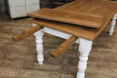Farmhouse table with end leaf