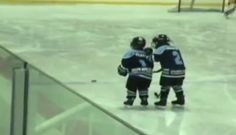 "This video was recorded last year at a Guelph Giants hockey game, and in it we see one kid helping another kid on his team score a goal. And by ""help,"" I don't mean he just gave him the puck, or fell out of the way. By ""help,"" I mean this kid showed more patience and support than most grown adults are even capable of.  It's really pretty awesome."