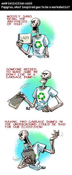 Undertale ask blog: gotta take out the trash by bPAVLICA.deviantart.com on @DeviantArt