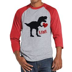 Stop by and check out our new item! Men's Valentine S.... Check it out here! http://7ate9apparel.com/products/mens-valentine-shirt-mens-dinosaur-valentines-day-shirt-dino-valentines-gift-for-him-funny-happy-valentines-day-red-raglan-shirt?utm_campaign=social_autopilot&utm_source=pin&utm_medium=pin