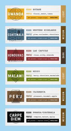Design / Typo – 08 TOMS Roasting Coffee — The Dieline - Branding & Packaging Food Packaging Design, Coffee Packaging, Coffee Branding, Brand Packaging, Coffee Labels, Glass Packaging, Packaging Ideas, Branding Design, Id Card Design